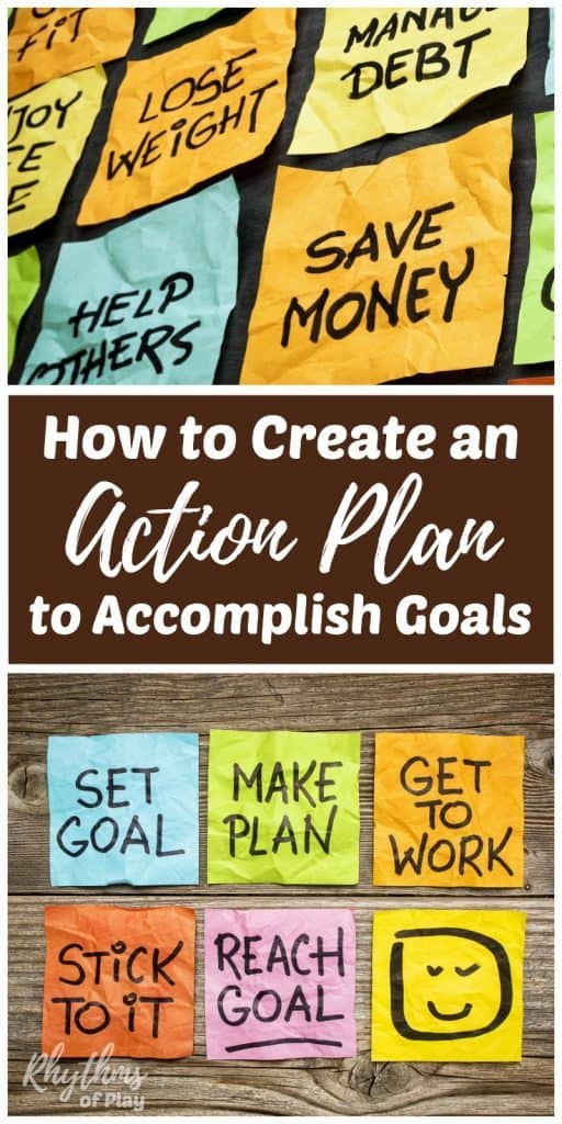 achieving goals with a goal action plan