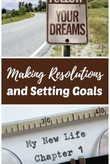 Making Resolutions Setting Goals