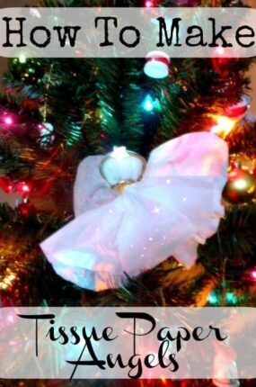 how to make tissue paper angels