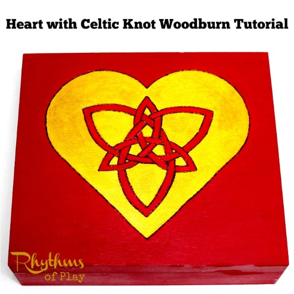 Heart with celtic knot woodburn tutorial