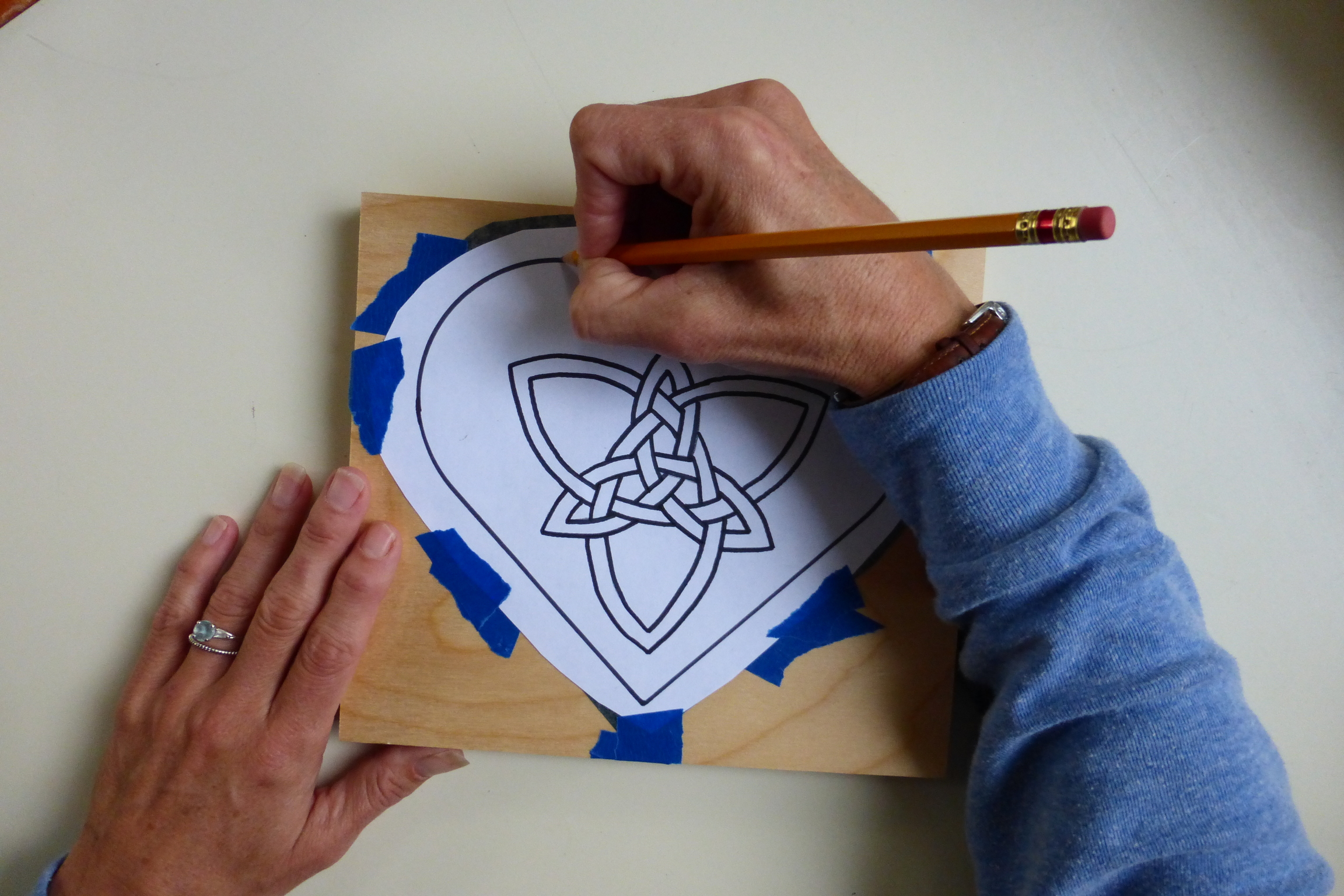 Heart With Celtic Knot Woodburn Tutorial Rhythms Of Play