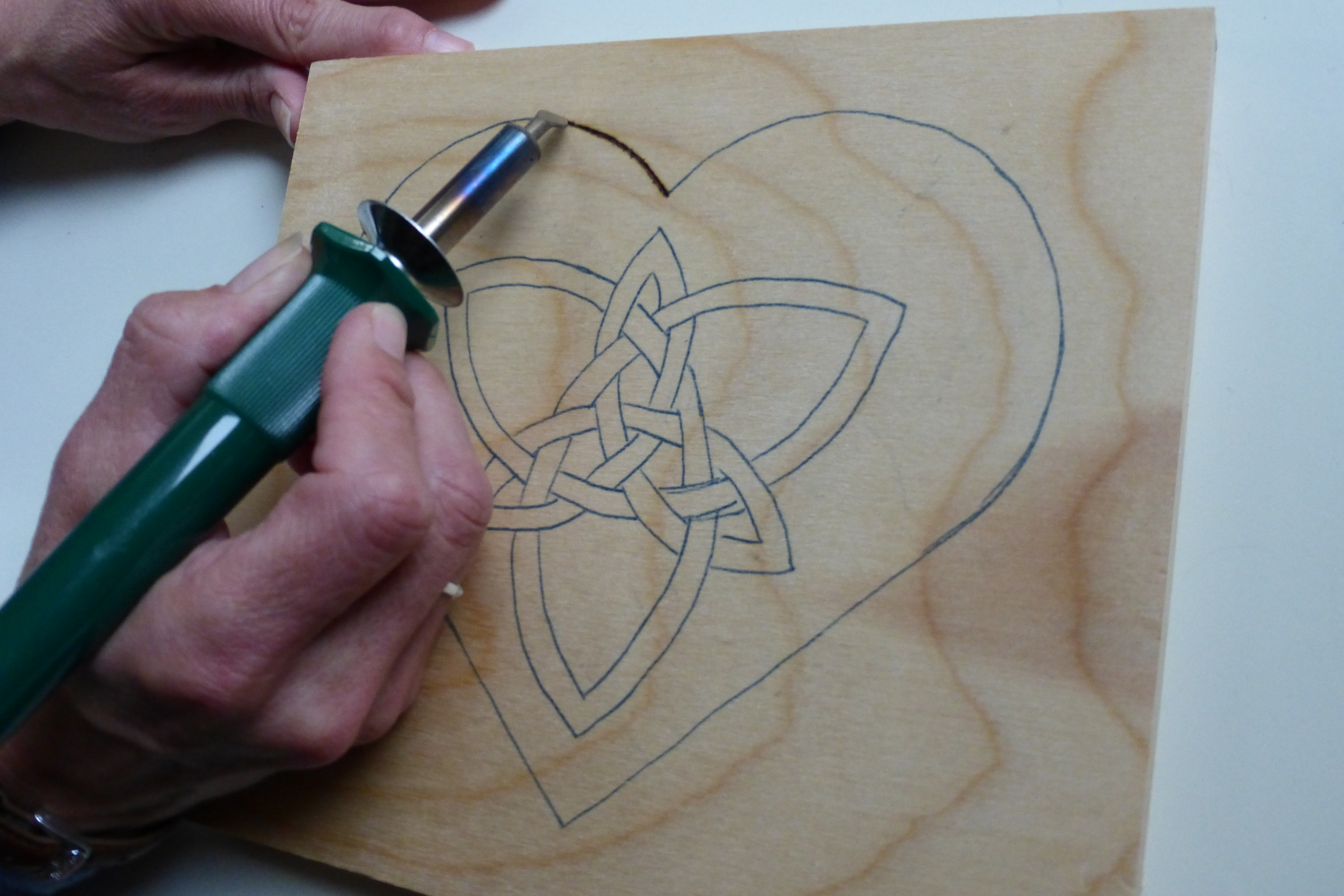 Heart with Celtic Knot Woodburn Tutorial | Rhythms of Play