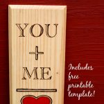 You Plus Me Equals Love DIY Keepsake Gift