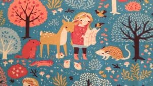 4. gathering her woodland friends