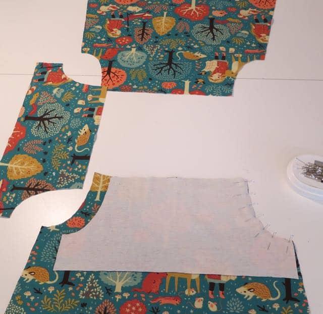9. Step 1 of construction of jersey knit dress