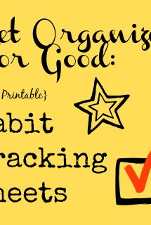 Get Organized for Good: Free Habit Tracking Printable