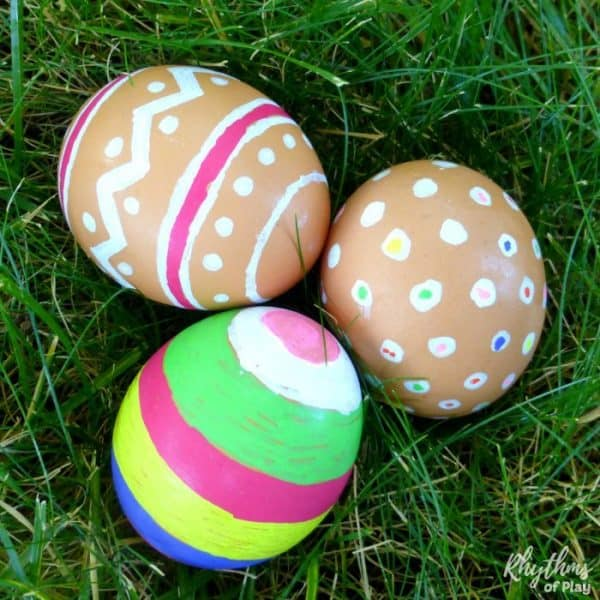 colored natural brown Easter eggs