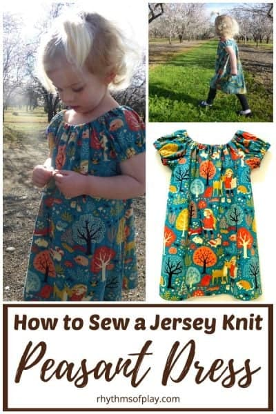 how to sew a jersey knit dress for girls