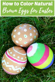 How to Color Natural Brown Eggs for Easter