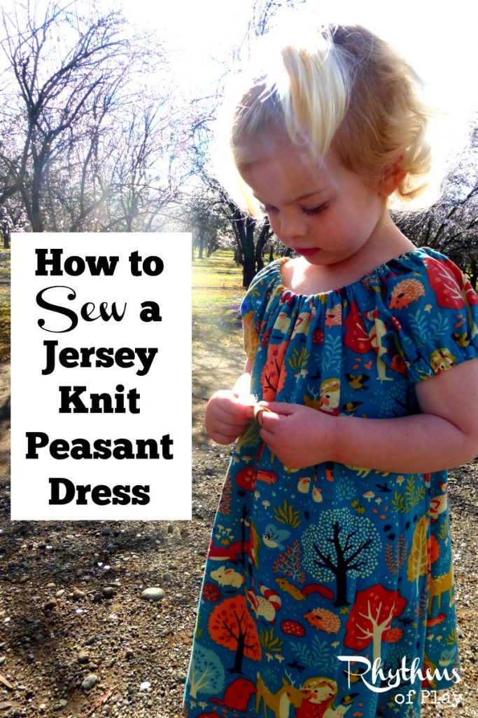This jersey knit dress sewing tutorial describes how to make this dress in a knit fabric as opposed to a woven fabric using a conventional sewing machine rather than a serger. It also includes easy tips on how to use a printed fabric so that the fabric design and the dress pattern enhance each other.