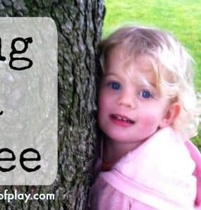 Hug a tree - a fun sensory and learning activity