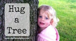 Hug a tree - a fun sensory and learning activity