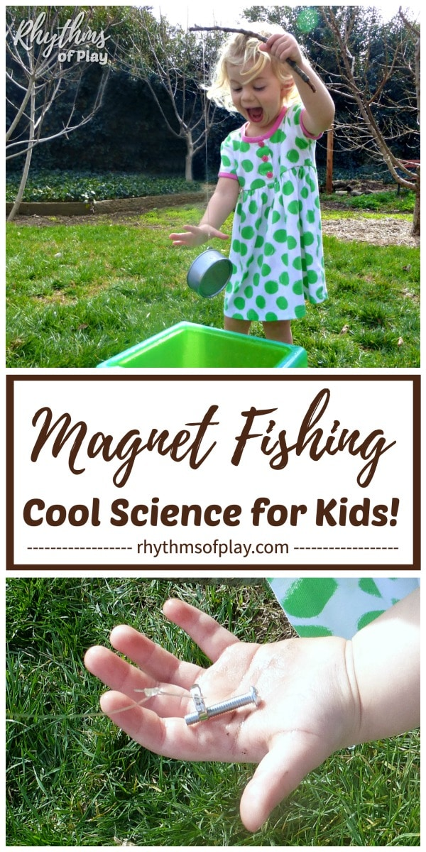 magnet fishing science experiment testing magnetism