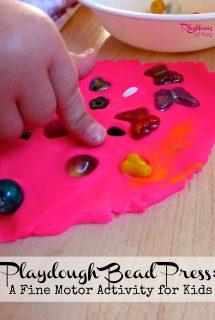 Playdough Bead Press: A Fine Motor Activity for Kids