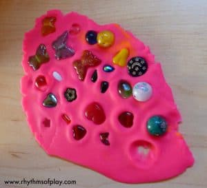 playdough bead press activity