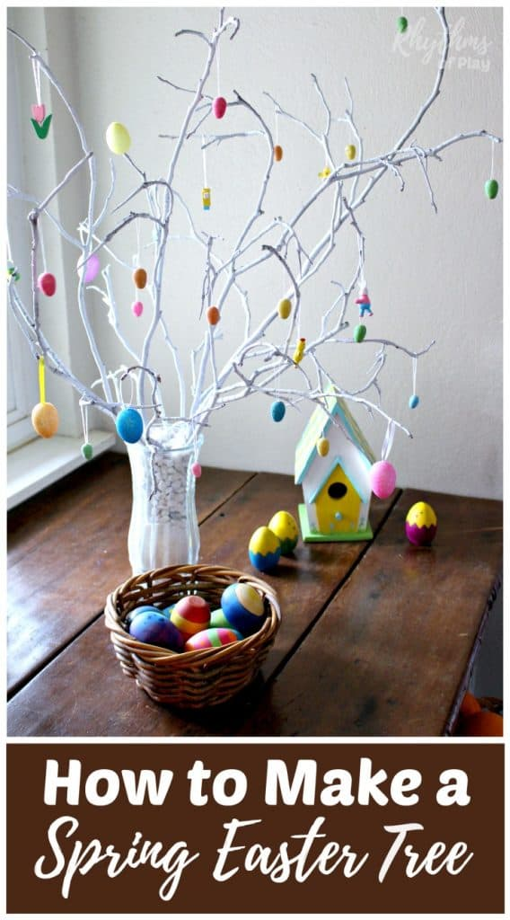 How to make an easter tree centerpiece rhythms of play for How to make easter decorations for the home
