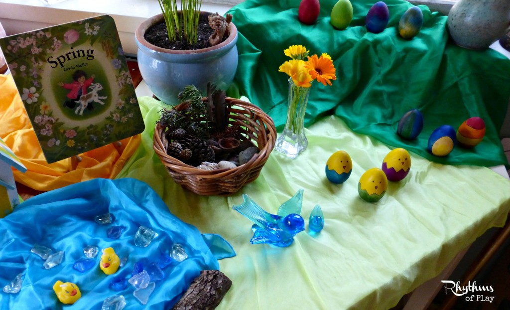 How to make a spring nature table