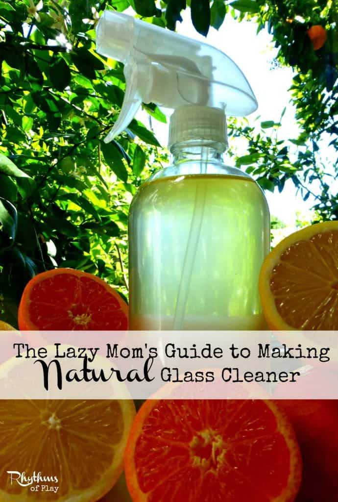 How to make natural glass & mirror cleaning solution.