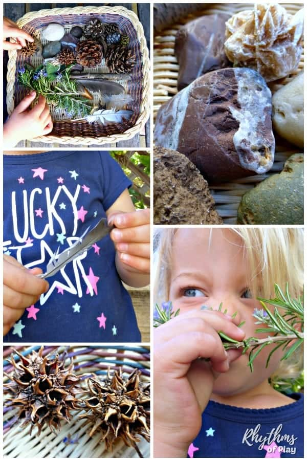 Nature sensory basket for kids
