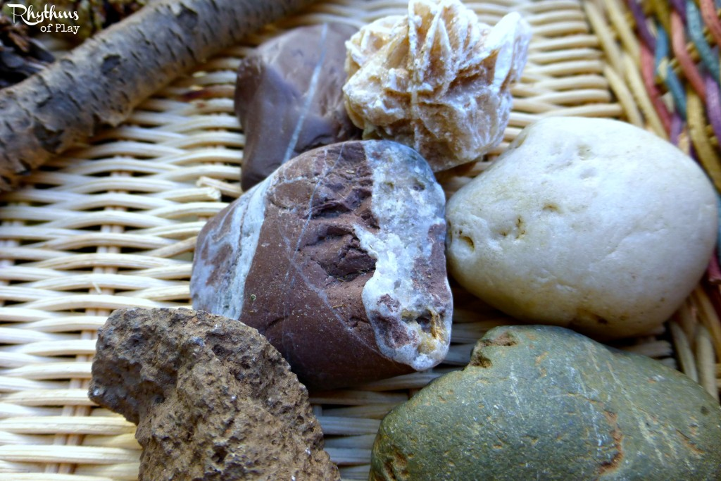 Rocks for nature sensory basket