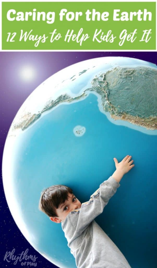 Earth Day green living ideas and parenting tips for Kids. Caring for the earth and making environmentally sustainable choices is an important skill to share with our children. The future of planet Earth depends on the choices we make today. Click through to find 12 simple ways to help your family learn to live in a greener world now and in the future.