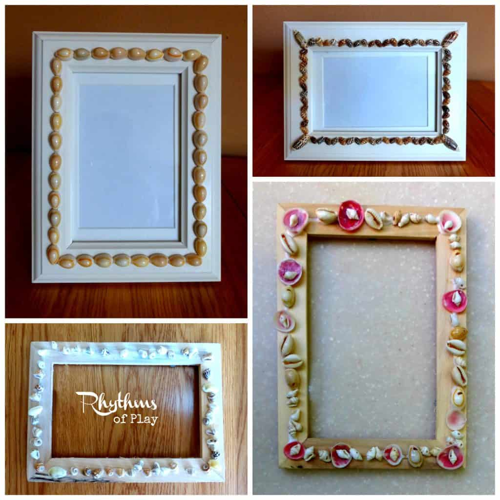 DIY Shell picture frames.