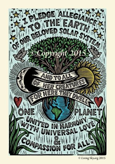Earth Day pledge poster