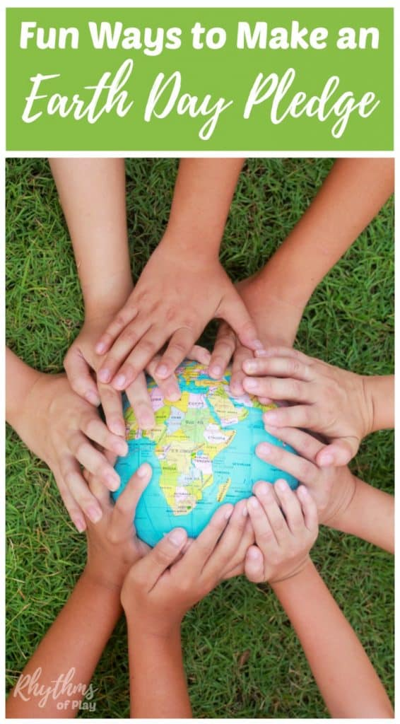 Make an Earth Day Pledge to help kids feel like they are making a contribution to the future of our environment and planet. Pledge to do your part to make this world a better place to live with any of these easy ideas and green activities. Links to printables are included.