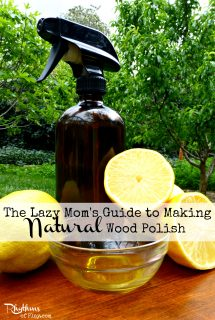 The Lazy Mom's Guide to Making Natural Wood Polish