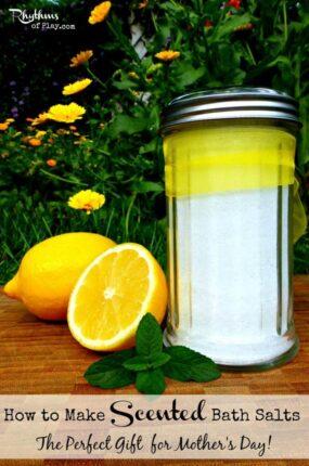 DIY scented bath salts.