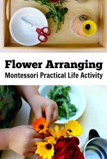 Flower Arranging Montessori Practical Life Kids Activity