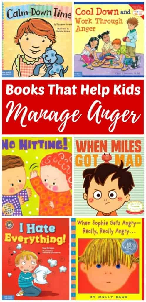 Collection of children's books about anger management