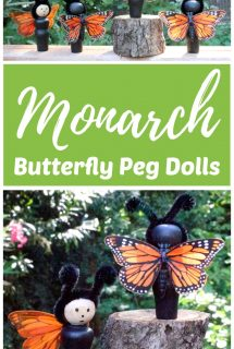 DIY Monarch Butterfly Peg Dolls
