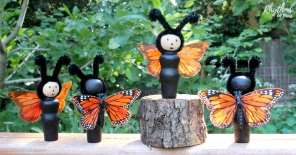DIY butterfly dolls