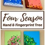 DIY Four Season Handprint and Fingerprint Tree