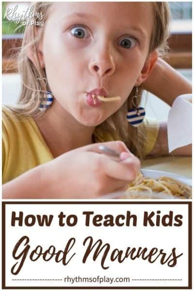 teach children to good manners