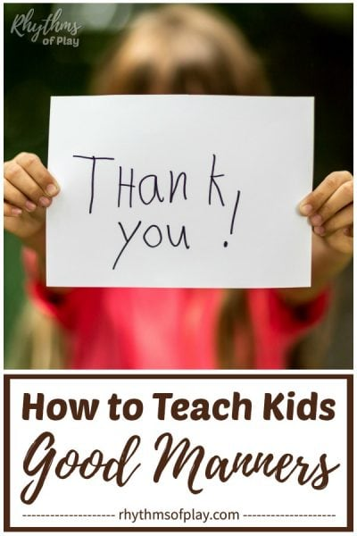 thank you for teaching children good manners