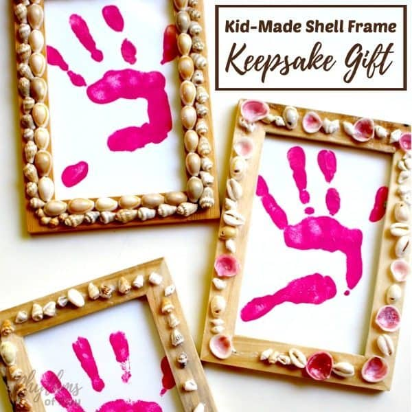 Kid Made Shell Frame Keepsake Gift Idea