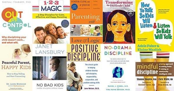 Positive parenting books about positive discipline techniques.