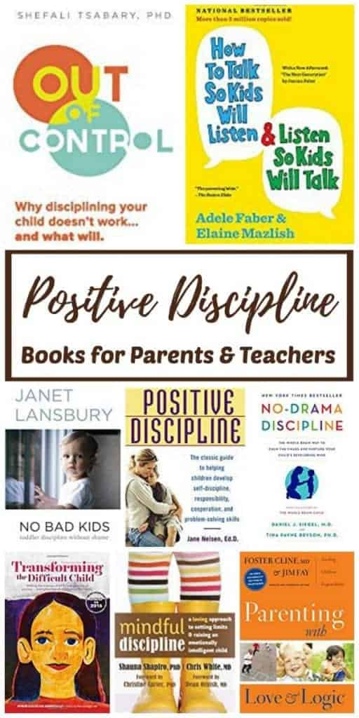 Positive discipline books to help you raise toddlers, children and teens without drama!