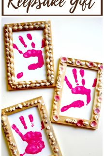 Shell Frames with Handprint Keepsake Gift