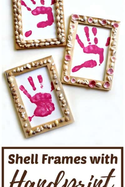Shell frames craft - Picture frames decorated with shells found on holiday's and daily adventures!