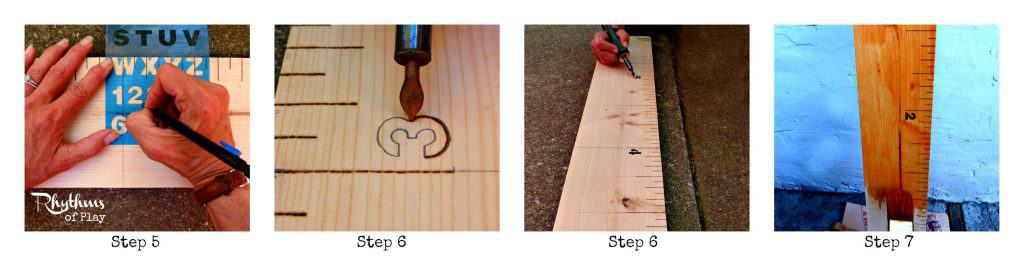 DIY Height Measuring Ruler