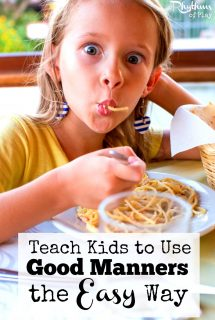 Teach Kids to Use Good Manners the Easy Way