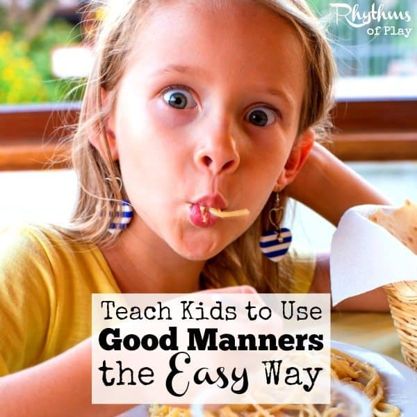 Discover the secret to teach kids to use good manners. It's so easy there doesn't even need to be any teaching involved!