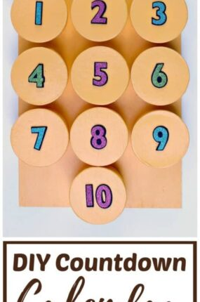 DIY countdown calendar for kids