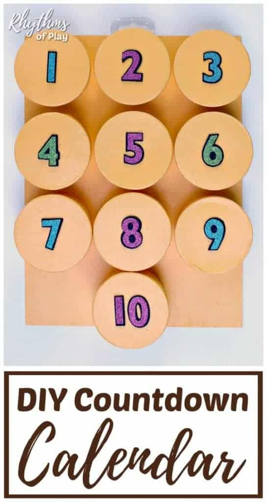 DIY countdown calendar for kids