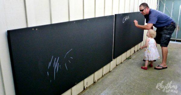 Diy Outdoor Chalkboard For Backyards And Patios Rhythms Of Play