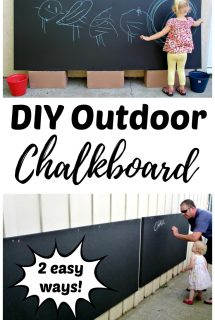 DIY Outdoor Chalkboard for Backyards and Patios