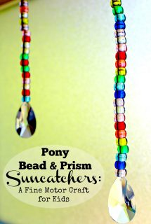 Pony Bead and Prism Suncatchers: A Fine Motor Craft for Kids